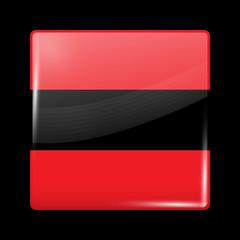 Flag of Albania. Glossy Icons