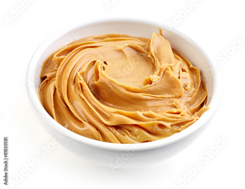 bowl of peanut butter
