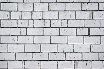 Background Pattern of Old White Brick Wall Texture