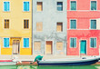 Colorful houses in Burano, Italy. - 81831934