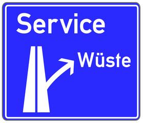 Service Schild blau  #150419-05