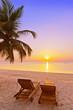 Loungers on Maldives beach - 81832959