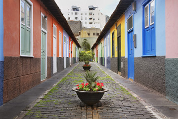 Courtyard in Santa Cruz de Tenerife. Canary Islands. Spain