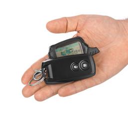 Hand with car keys