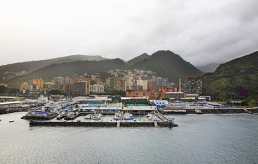 Port in Santa Cruz de Tenerife. Spain