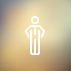 Man standing thin line icon