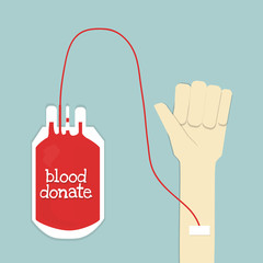 blood donate and hand