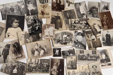 Vecchie fotografie ricordi del passato