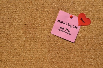 Memo: Mother´s Day 2015