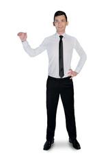 Business man presenting something