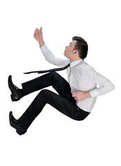 Business man climb something
