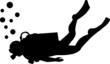 Scuba diving silhouette