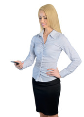 Business woman call phone