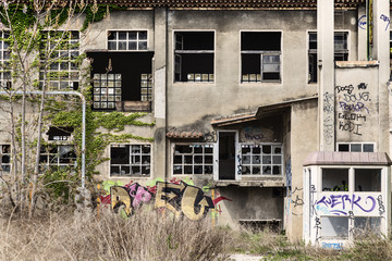 Abandoned building cranes
