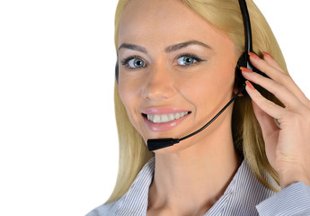 Business woman support call
