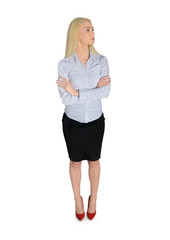 Business woman looking side