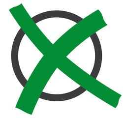 Kreis mit Kreuz, grün