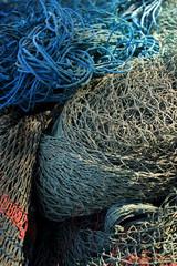Heap of old fishing net.