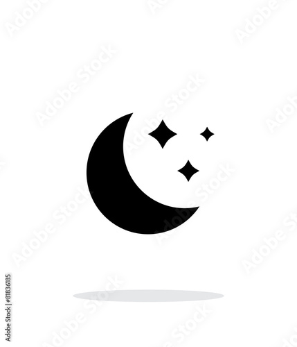 Moon simple icon on white background.