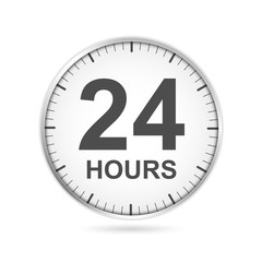 24 hours customer service icon.