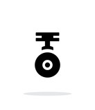 Camera for copter simple icon on white background. poster