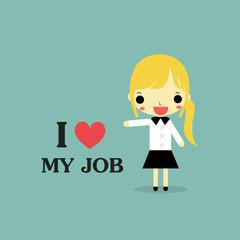 i love my job woman version