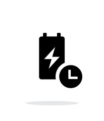 Battery live time simple icon on white background.