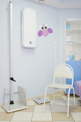 Stadiometer in the office of a pediatrician