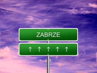 Zabrze City Poland Sign