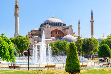 View of the Hagia Sophia in Istanbul