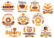 Bakery shop emblem or sign board designs - 81837589