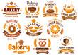 Bakery shop emblem or sign board designs - 81837589