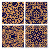 Arabic geometric seamless patterns with foliage elements - 81837581