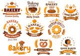 Bakery shop emblem or sign board designs