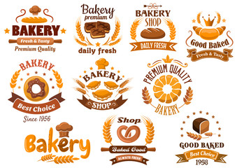 Bakery shop emblem or sign board designs