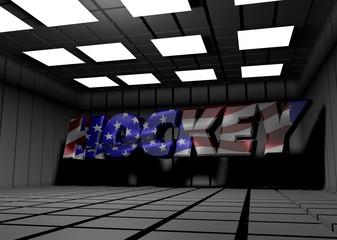 Hockey text 3d