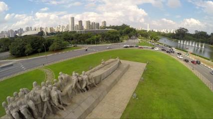 Bandeiras Monument in Ibirapuera Park, Sao Paulo, Brazil