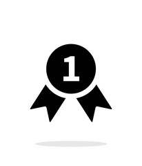 Award medal simple icon on white background.
