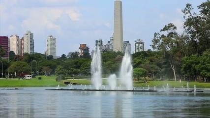 Fountains in Ibirapuera Park, Sao Paulo, Brazil
