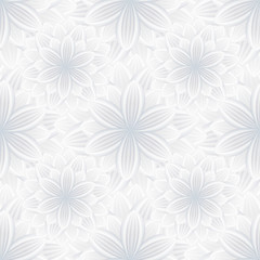 Light seamless pattern with flower chrysanthemum