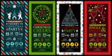 Fototapety Christmas Party Invitation Card Sets