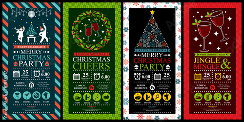 Christmas Party Invitation Card Sets - 81838917
