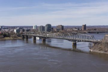 Bridge over a Canadian river