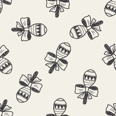 doodle rattle seamless pattern background