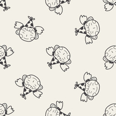 doodle birthday girl seamless pattern background