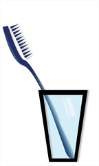 toothbrush with glass for oral hygiene
