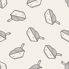 Doodle Noodle seamless pattern background