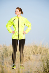 Active Woman in Running Clothes