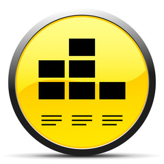 Black Bar Graph icon