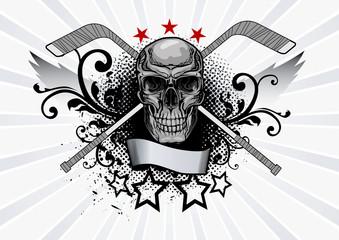 Skull Mascot Hockey